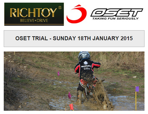 OSET TRIAL - SUNDAY 18TH JANUARY 2015